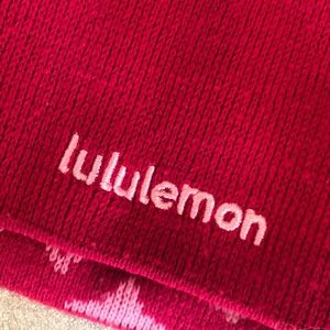 Lululemon Two Tone and Reversible Pink Toque